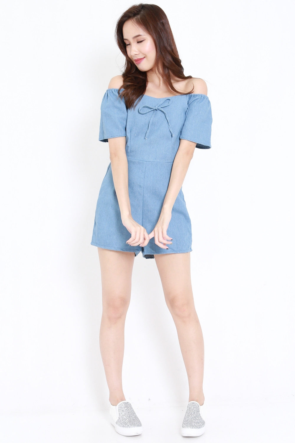 Ribbon Offsie Romper Light