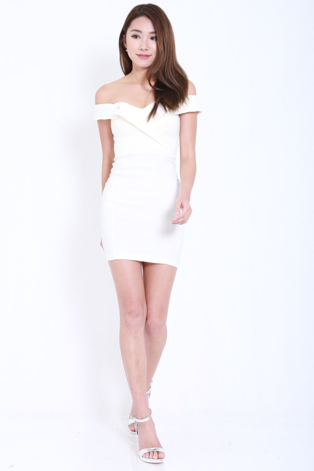 Ruffle Sweetheart Dress (White) -  - 2