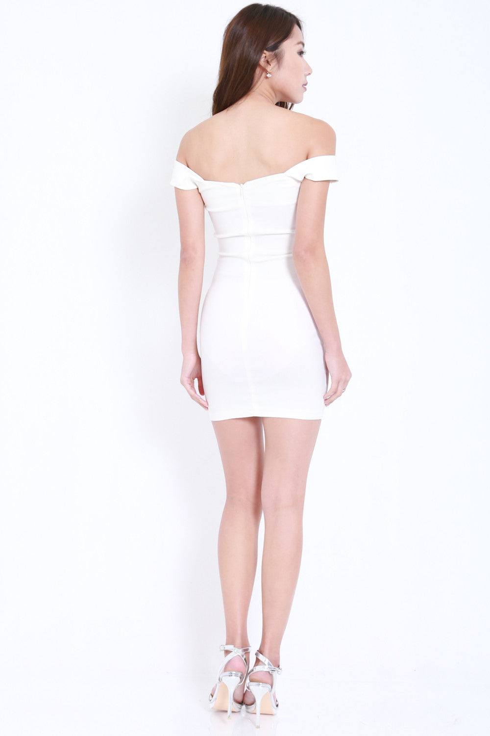 Ruffle Sweetheart Dress (White)