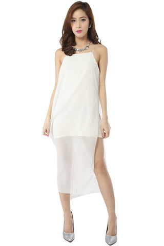 Runway Chiffon Maxi Dress (White) -  - 2