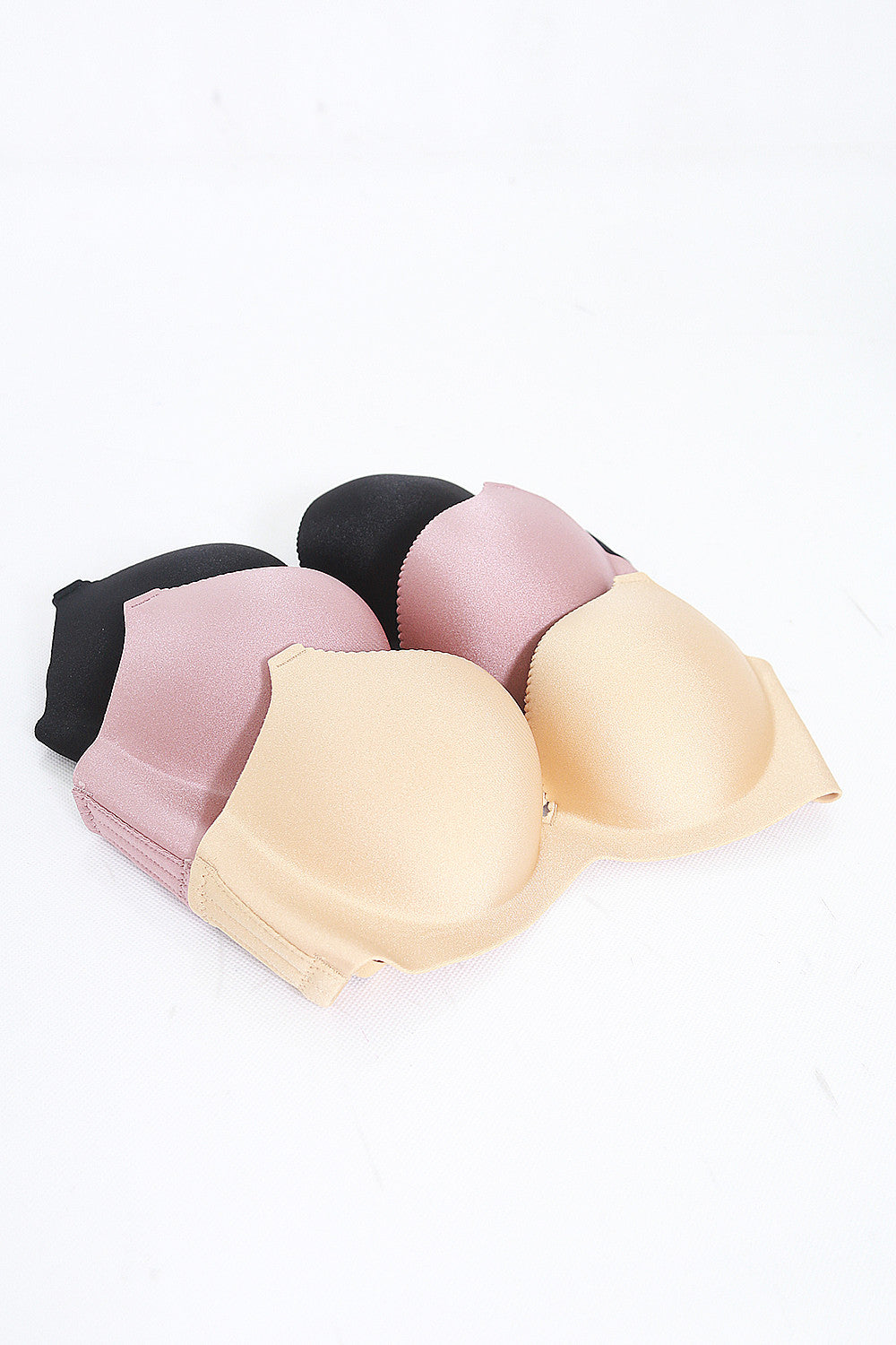 Satin Push Up Bra (Nude)