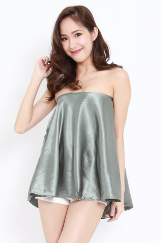 Satin Tube Top (Olive