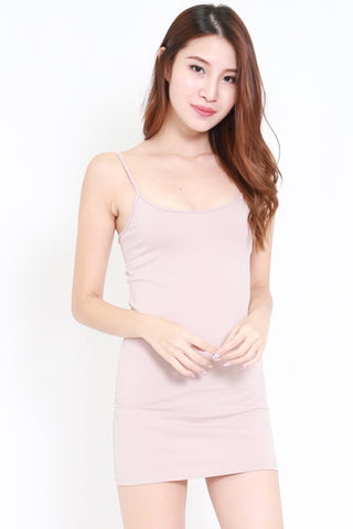 Scoop Neck Spag Dress (Blush)