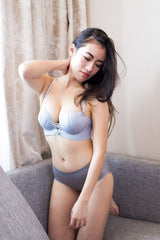 Seashell Lace Bra (Grey)