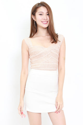 Shimmer Bandage Top (Rose Gold)