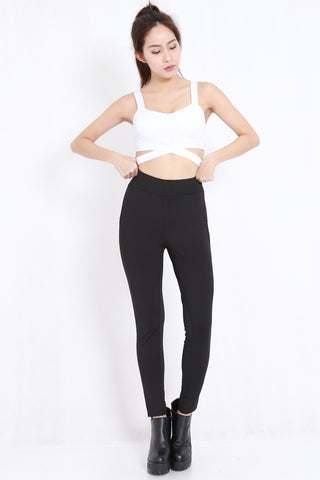 Side Cutout Sports Bra (White)
