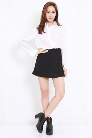 Side Flap Skorts (Black)