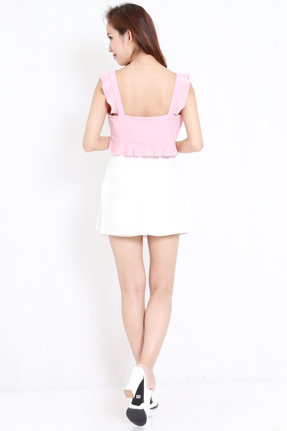 Side Flap Skorts (White)