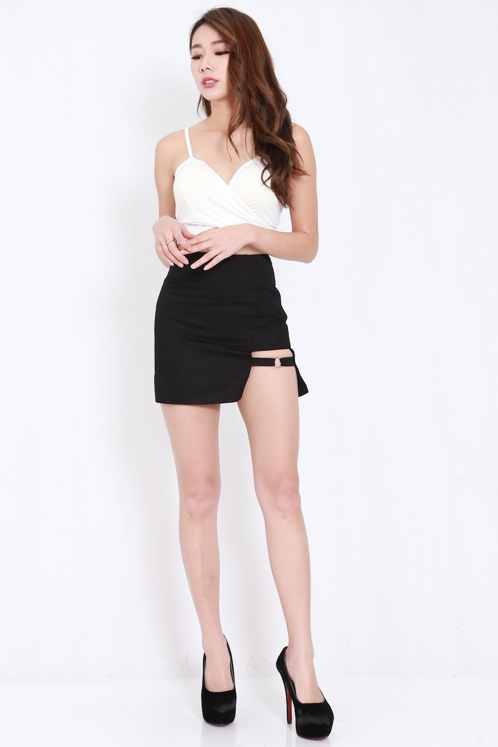 Side Ring Slit Skirt