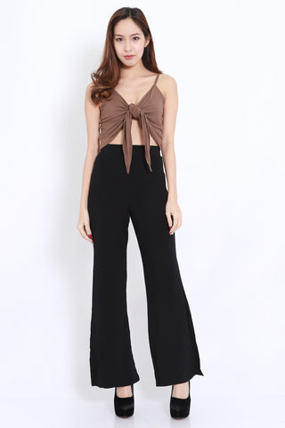 Side Slit Pants (Black)