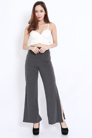 Side Slit Pants (Dark Grey)