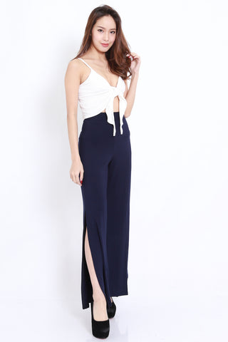 Side Slit Pants (Navy)