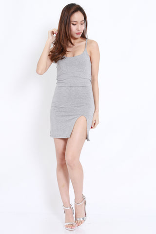 Slit Spag Dress (Grey)