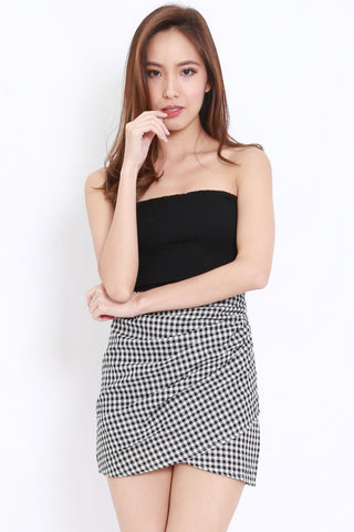 Smocked Crop Tube (Black)