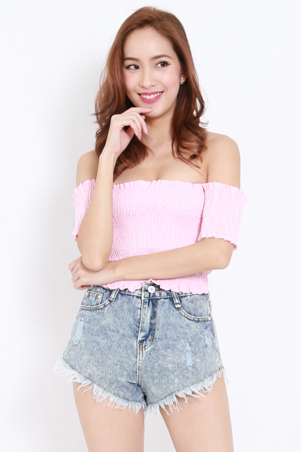 Smoked Crop Offsie (Pink)