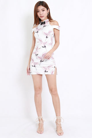 Sparrow Off Shoulder Cheongsam Dress
