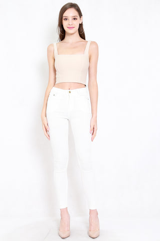 Skinny High Waist Jeans (White)