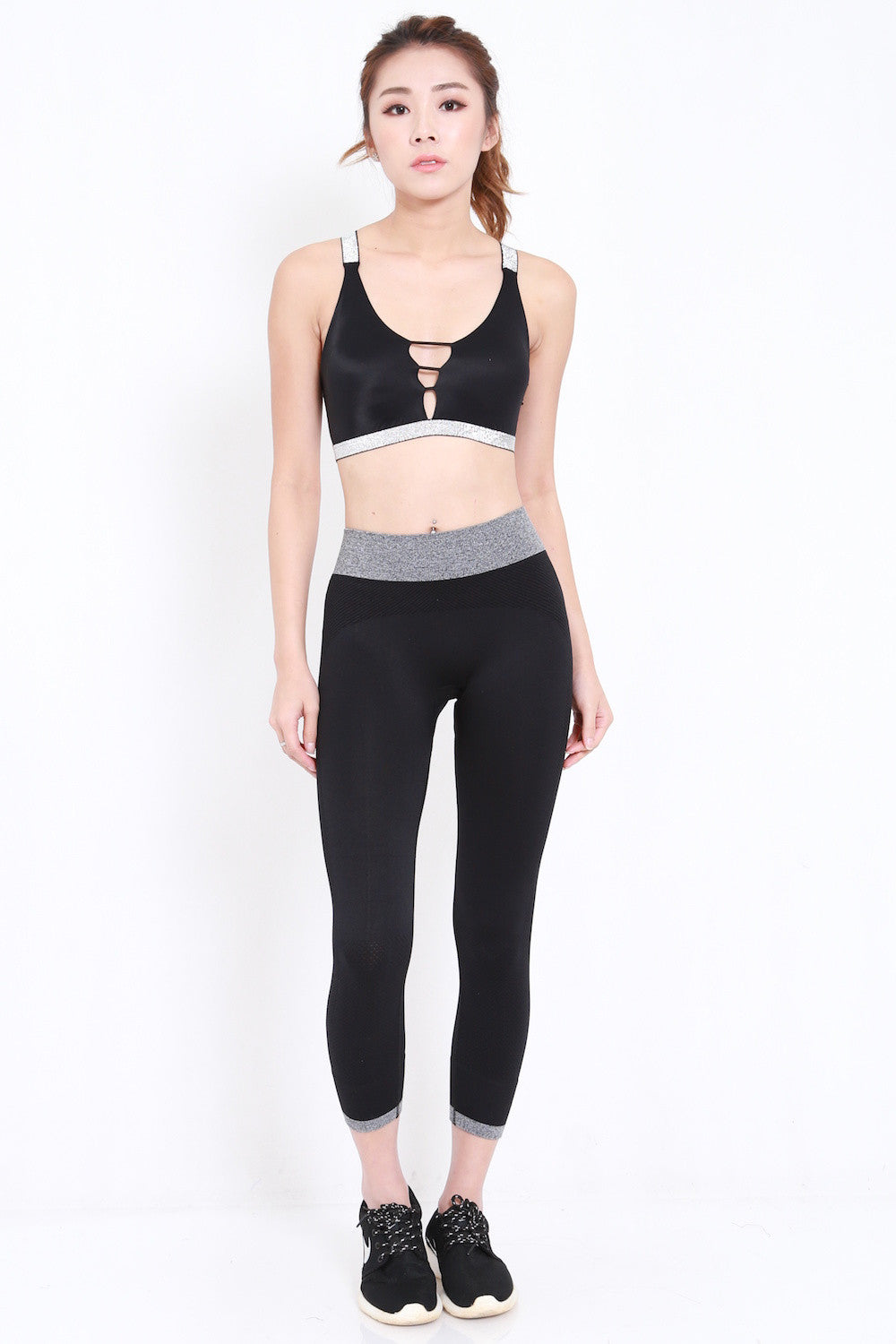 Static Cutout Bra (Black)