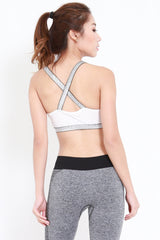 Static Cutout Bra (White)