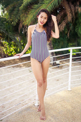 Stripes Bare Back Monokini