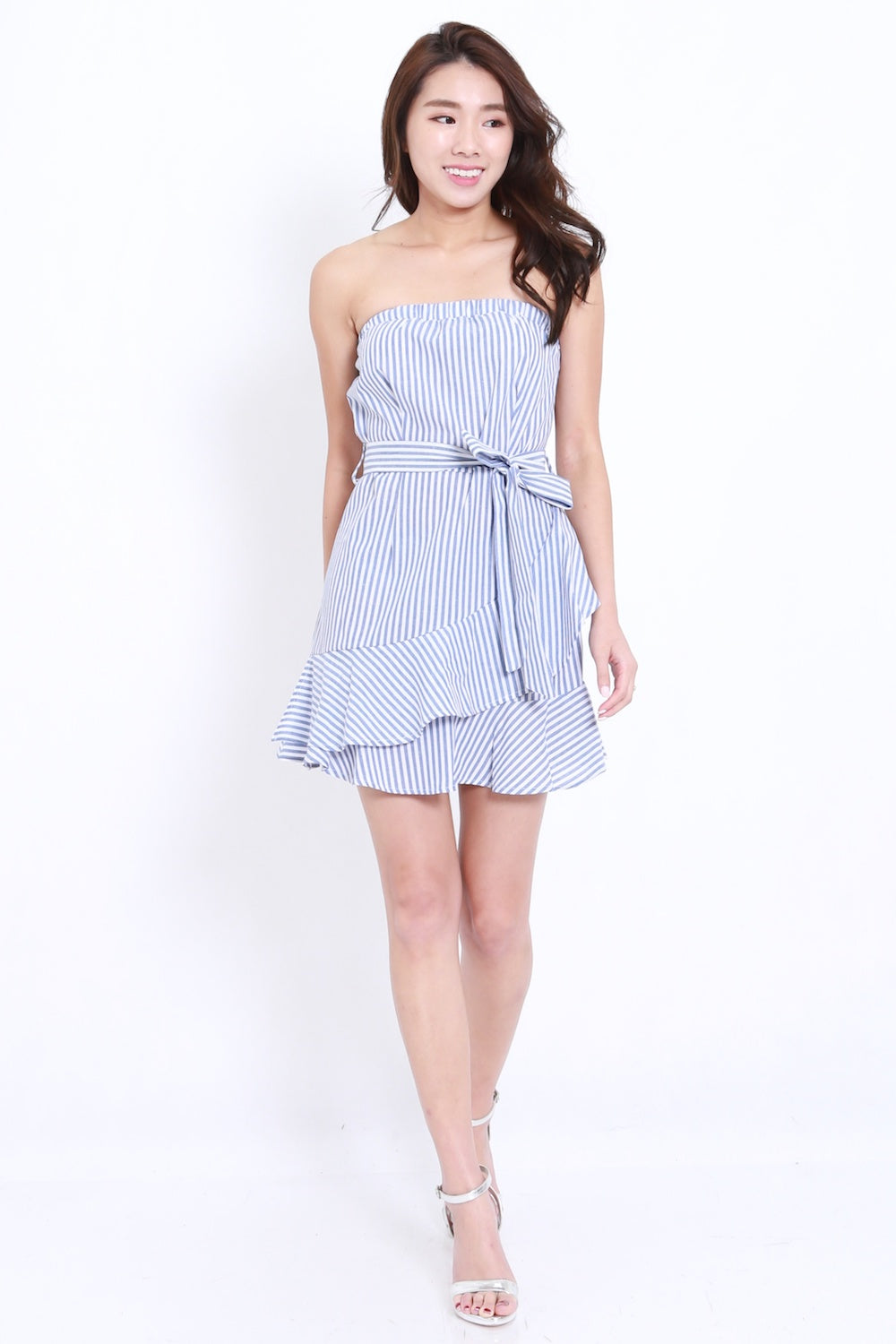 Stripes Mermaid Tube Dress (Blue)