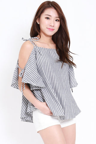 Stripes Ribbon Tie Offsie (Black)