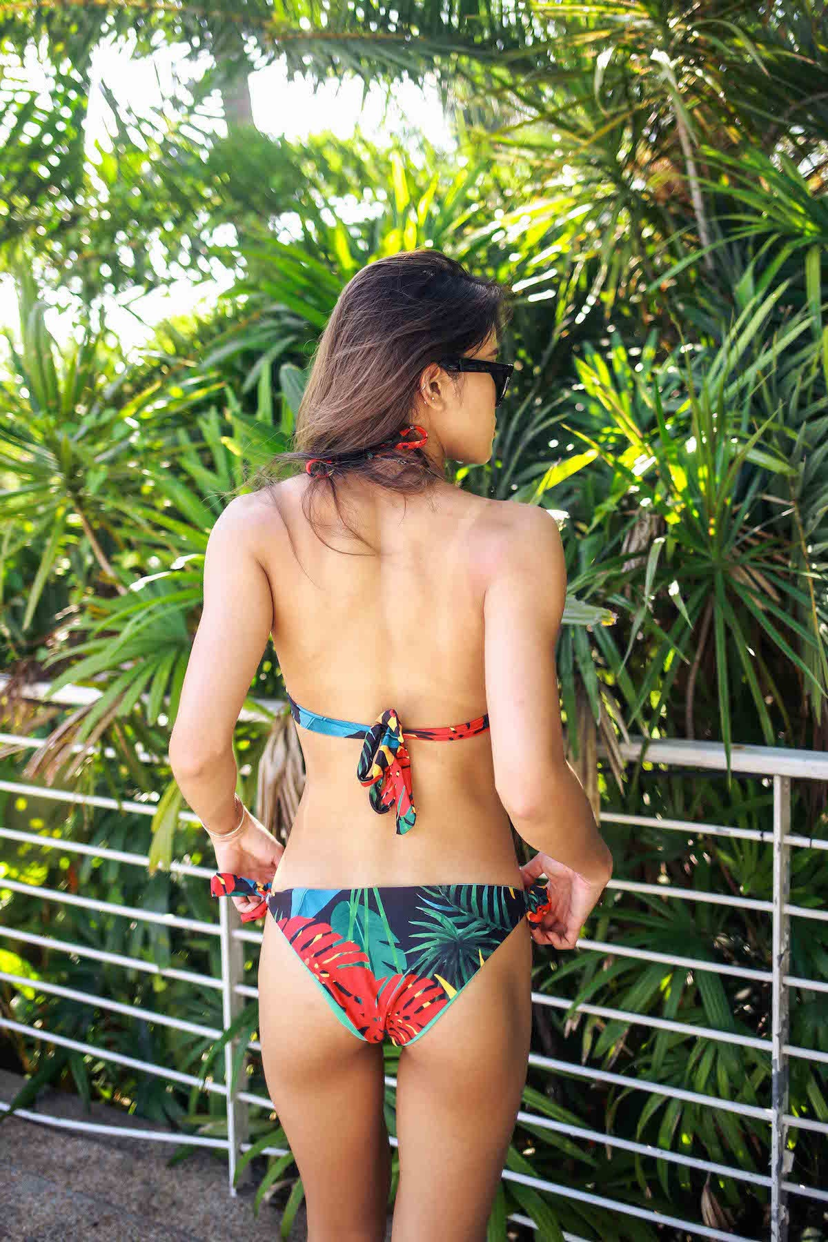 Sunshine Palm Leaves Bikini