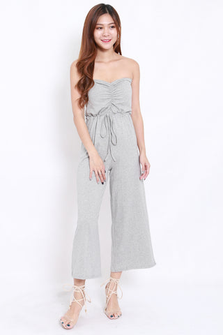 Sweetheart Drawstring Jumpsuit (Grey)