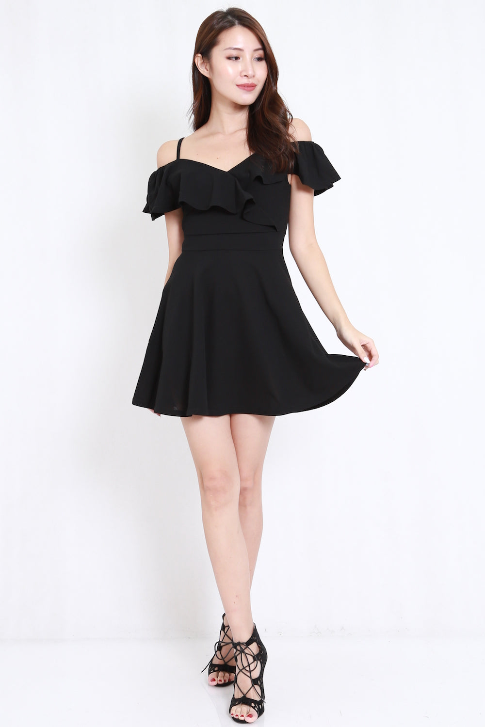 bca1fb23a9 Sweetheart Off Shoulder Skater Dress (Black) – Carrislabelle