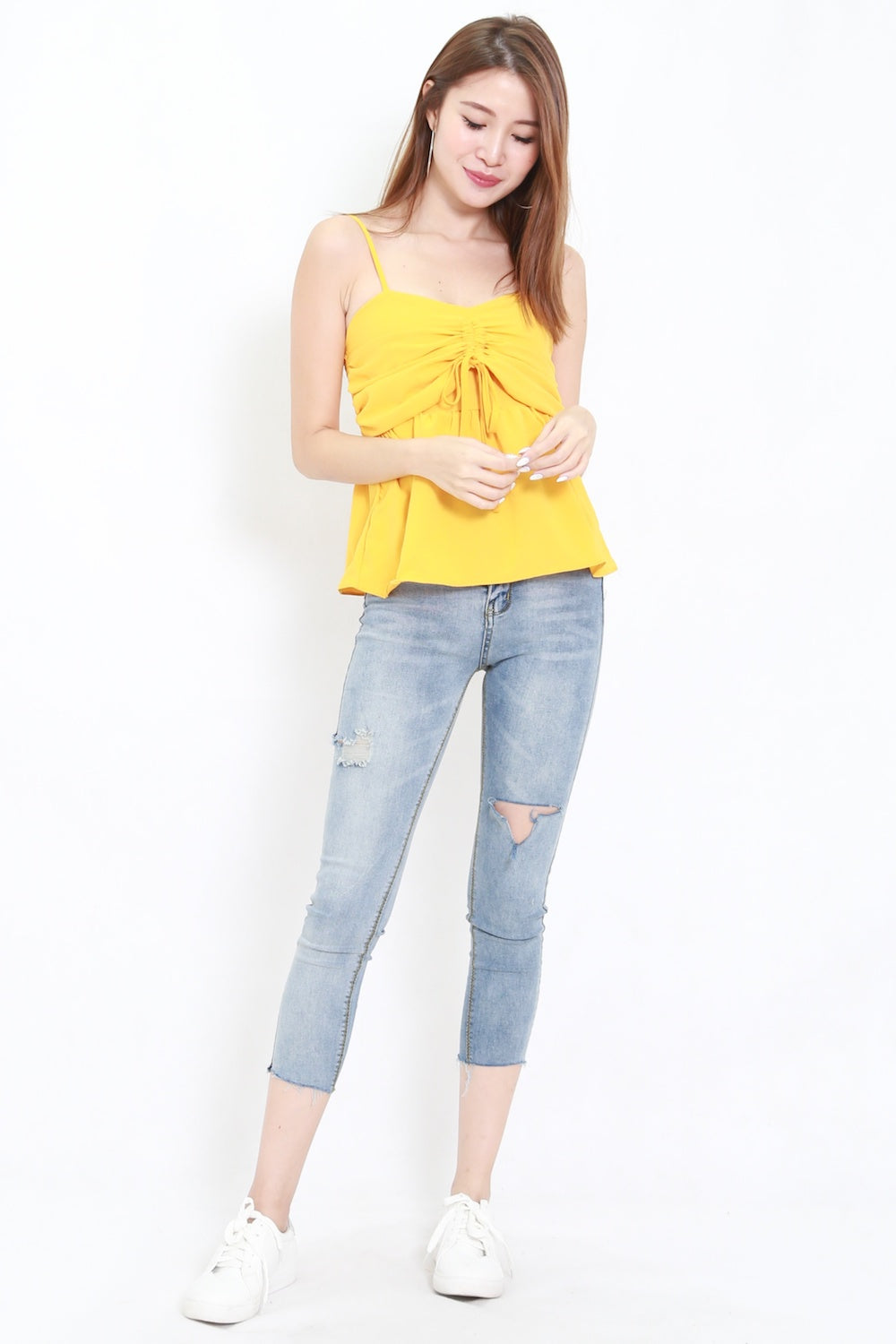 Sweetheart Scrunch Top (Yellow)