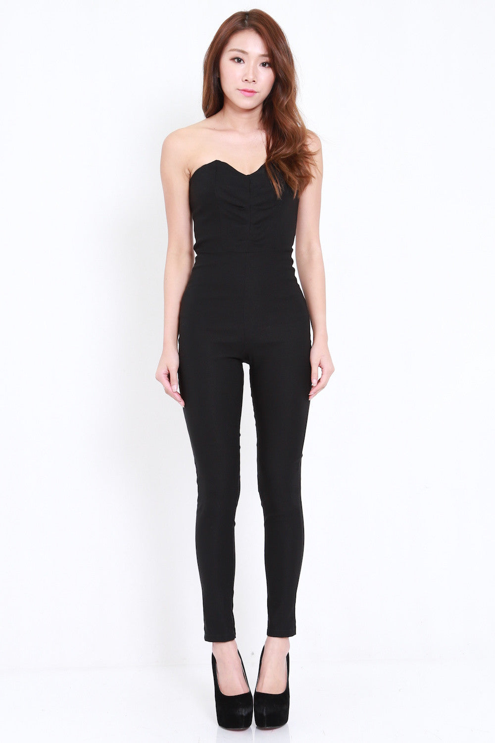 Sweetheart Tube Jumpsuit (Black)