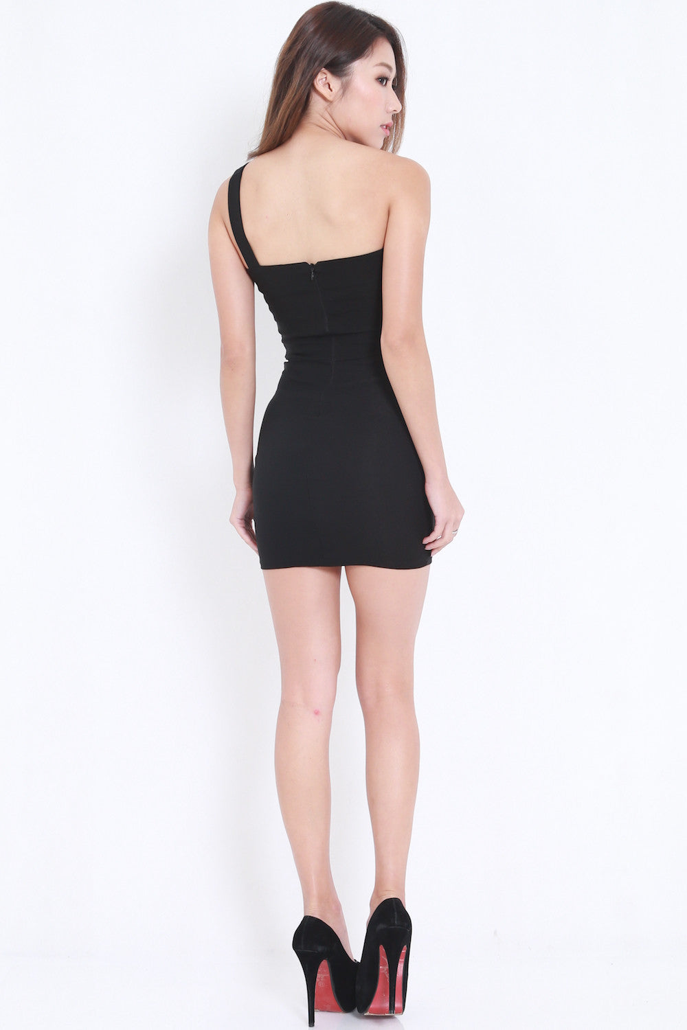 Toga Overlap Dress (Black) -  - 5