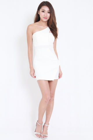 Toga Overlap Dress (White) -  - 2