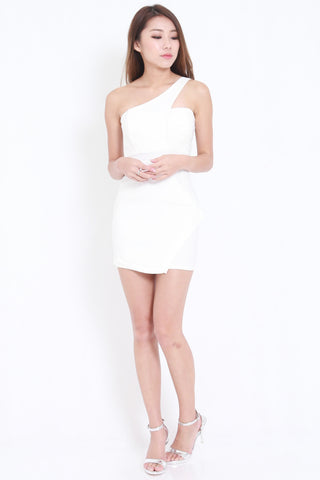 Toga Overlap Dress (White) -  - 1