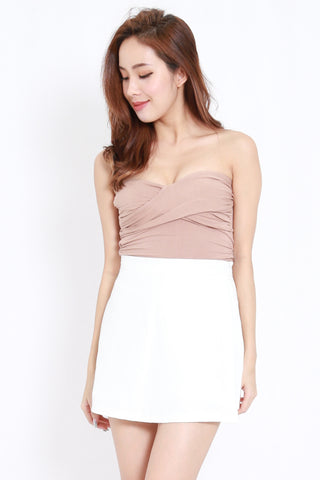 Twist Front Bandeau Top (Nude)