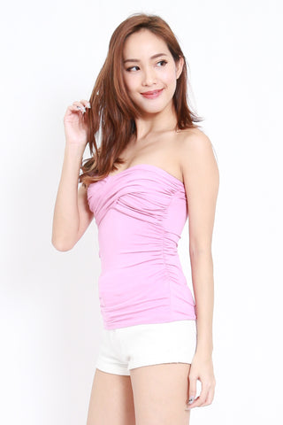 Twist Front Bandeau Top (Pink)