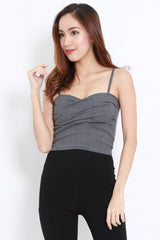 Twist Wrap Bralet (Dark Grey)
