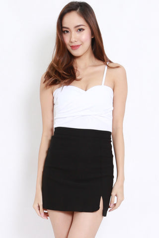 Twist Wrap Bralet (White)