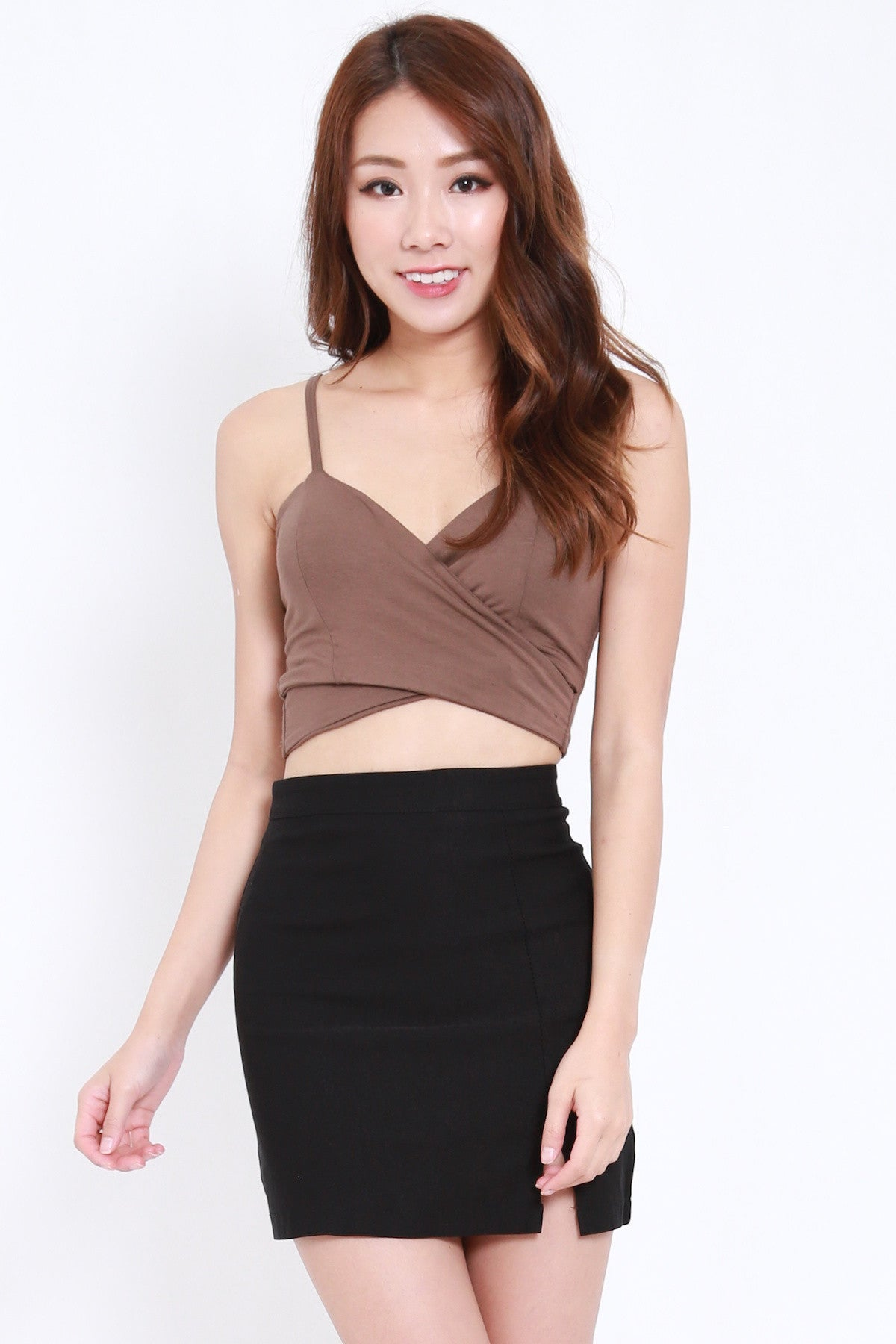 Underwrap Bralet (Brown)