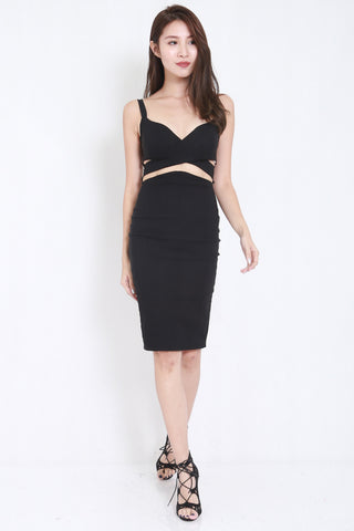Underwrap Cutout Midi Dress -  - 2