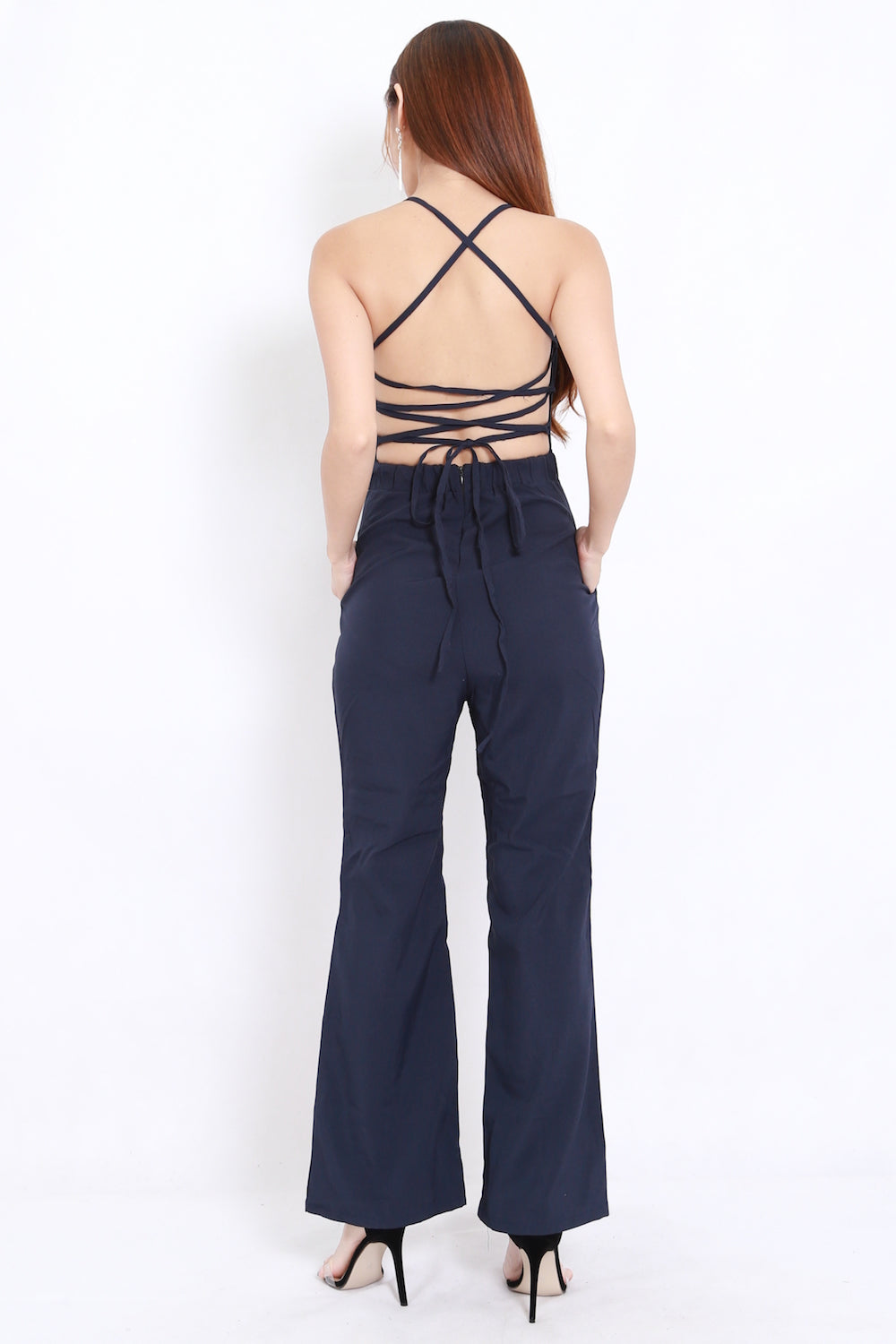 Vera Cross Back Jumpsuit (Navy)