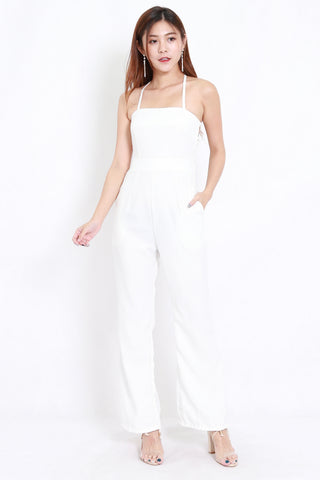 532bb544a92 Vera Cross Back Jumpsuit (White)