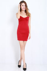 Victoria Spag Dress (Red) -  - 2