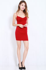 Victoria Spag Dress (Red) -  - 3