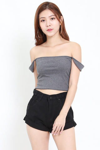 Visery Ribbed Top (Grey)