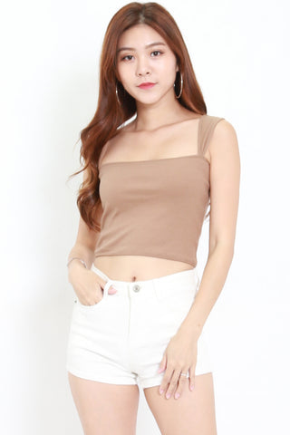 Visery Ribbed Top (Taupe)