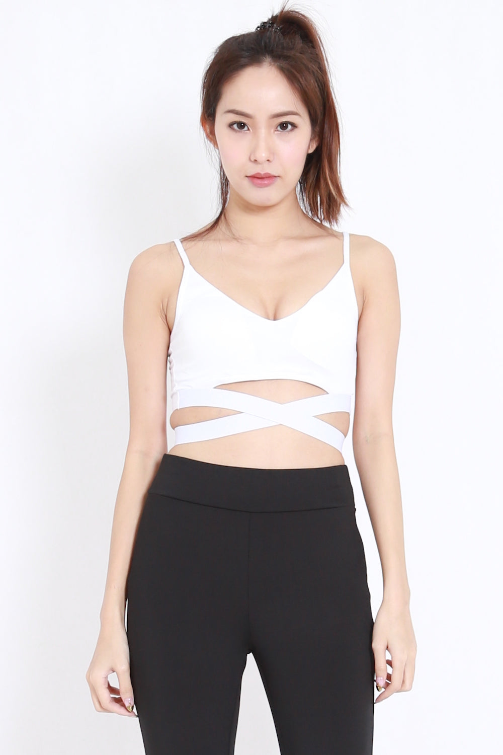 Wrap Around Sports Bra (White)