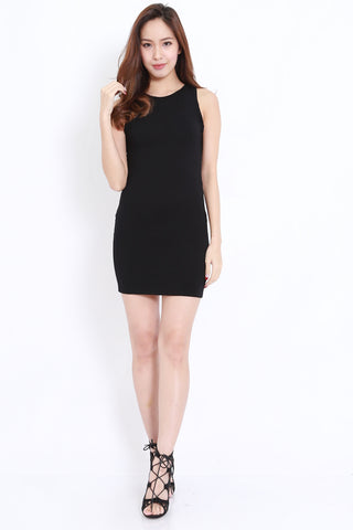 Wrap Back Dress (Black)