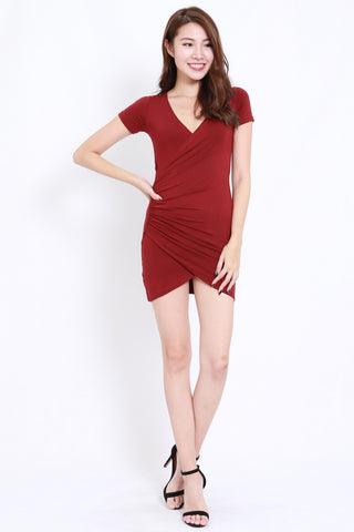 Wrap Dress (Maroon)