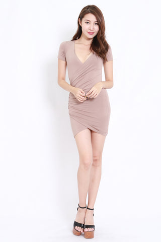 Wrap Dress (Taupe)